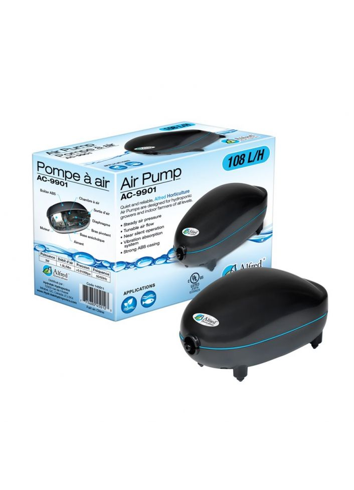 ALFRED AIR PUMP 1 OUTLET, 108 L / H, 3W